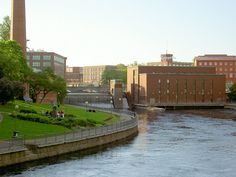 The Tammerkoski rapids in the inland city of Tampere.