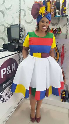 African Fashion Skirts, African Print Dresses, African Print Fashion, Ankara Dress, Dress P, Baby Dress, Dress Outfits, Brown Summer Dresses, South African Traditional Dresses