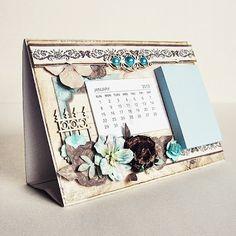 Handmade Calendar With Post It Notes Calendar Notes, Diy Calendar, Desk Calendars, Post It Holder, Personalised Calendar, Diy And Crafts, Paper Crafts, Craft Fairs, Homemade Cards