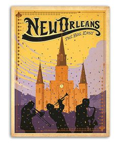 Take a look at this 'New Orleans' Wall Art by Americanflat on #zulily today!