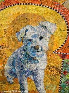 """detail, """"Golden Temple of the Good Girls"""" by Susan Carlson.  2016 AQS QuiltWeek.  Photo by Quilt Inspiration."""