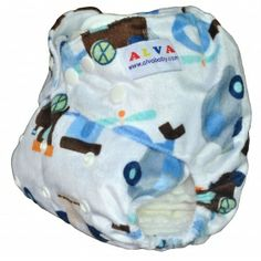 1 BABY AI2 PRINT RE-USABLE CLOTH DIAPER NAPPY+1 INSERT M20 [M20] - $5.59 : alvababy cloth diaper www.alvababy.com