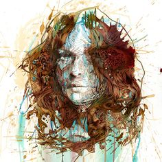 Carne Griffiths | Portraits in Ink and Tea 2