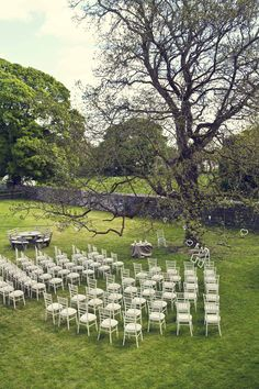 outdoor wedding ceremony - Read more on One Fab Day: http://onefabday.com/durhamstown-castle-wedding-by-bronte-photoraphy/