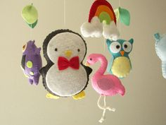 Baby crib mobile forest mobile animal mobile  felt by Feltnjoy, $90.00