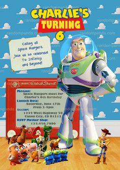 Toy Story Invitation, Buzz Lightyear, Buzz Birthday Party Invite