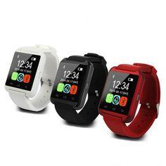 뜨거운 판매 u8 블루투스 smart watch u smart watch 손목 시계 iphone 4/5 s/6 안드로이드 전화 스마트 시계