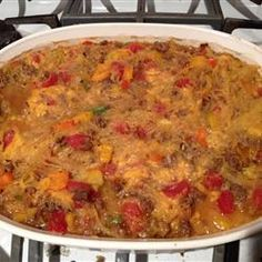 Baked Spaghetti Squash with Beef and Veggies Allrecipes.com