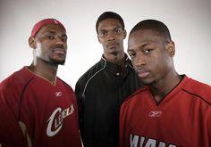 Rare Photos of Dwyane Wade - LeBron James, Chris Bosh and Dwyane Wade | Sports Illustrated Kids