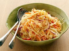 Coleslaw with Cumin-Lime Vinaigrette recipe from Bobby Flay via Food Network