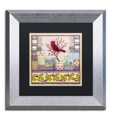 """Trademark Art """"West Tisbury Cardinal"""" by Rachel Paxton Framed Graphic Art"""