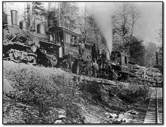 Cutting Timber in West Virginia | Twin 45-ton Climax locomotives wheeler lumber wv