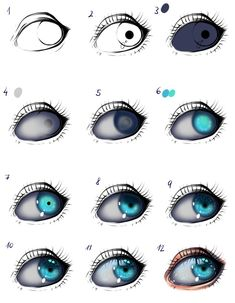 Eye tutorial by ryky.deviantart.com on @DeviantArt