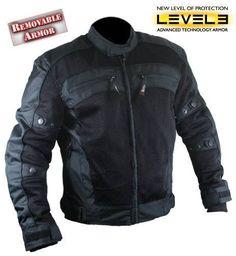 NWT Xelement Men's CF380 TriTex Mesh Black Level-3 Armored Motorcycle Jacket  #Xelement #Motorcycle