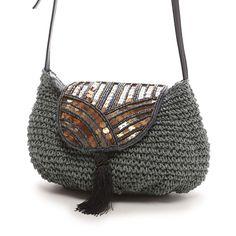 クーコ COOCO ペーパーxビーズカブセショルダー(グレー) -靴とファッションの通販サイト ロコンド Diy Crochet Bag, Crochet Clutch, Crochet Purses, Knit Crochet, Purse Patterns, Knitted Bags, Tote Purse, Handmade Bags, My Bags