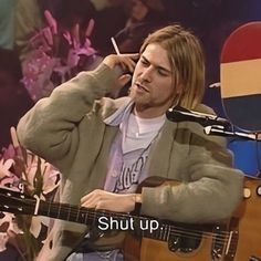 For everything Nirvana check out Iomoio Playlists, Instagram Selfies, Donald Cobain, Nirvana Kurt Cobain, Foo Fighters, Forever, My Mood, Reaction Pictures, Shut Up