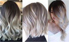 HIT sezonu: popielate ombre. Galeria fryzur #popielate włosy #włosy #popielate #fryzura popielata #włosy siwe #ombre