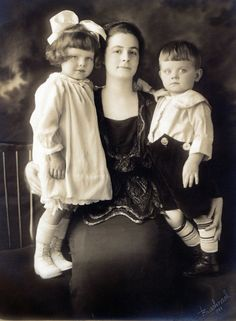 Josephine (my grandmother), Dorothy (my mother) and Evans (my uncle) taken in 1920. It is my favorite photo in my collection