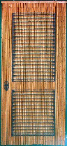 Louver Door Beaded Curtain 125 Strands (+hanging hardware) Handmade and hand painted Each of our beaded curtains begins with approximately 4000 beads cut ...  sc 1 st  Pinterest & Bamboo Beaded Curtain Peony Flowers Decor Natural Door Way Doorway ...