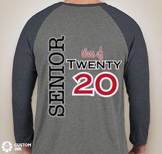 Class of 2020 Senior - Senior Shirts - Ideas of Senior Shirts - Class of 2020 Senior Senior Class Shirts, Graduation Shirts, Football Senior Pictures, Graduation Pictures, Vinyl Shirts, Tee Shirts, Senior Overalls, High School Seniors, School Clubs