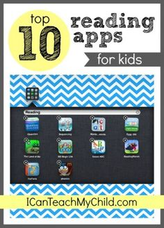 Top 10 Reading Apps for Kids - Pinned by @PediaStaff – Please Visit  ht.ly/63sNt for all our pediatric therapy pins