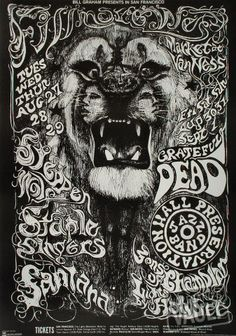 Fillmore West poster...psychedelic art.