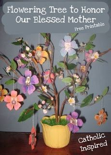 Flowering Mary Tree Project / Craft ~ Month of Mary | Catholic Inspired ~ Arts, Crafts, and Activities!