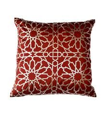 Bidri foil print geometric - Red