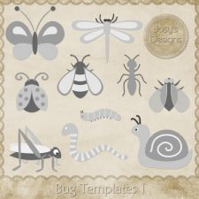 Bug Layered Templates by Josy available at cudigitals.com. Providing digital scrapbooking graphic designs for commercial use.
