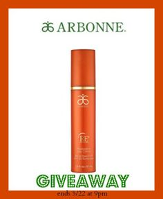 ARBONNE Skin Care GIVEAWAY – Win RE9 Day Creme + Join Our Facebook Party!