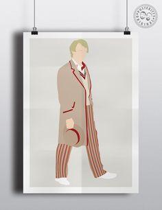 #minimalist #poster #posteritty #fanart #whovian #drwho #doctorwhol #davison #peter #5th