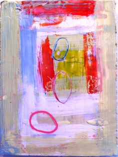 encaustic and mixed media on board, Amy Weil