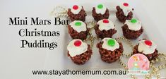 Mini Mars Bar Christmas Puddings | Stay at Home Mum