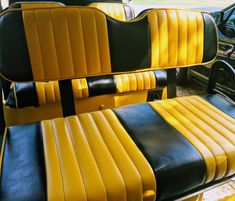 Choose from a large variety of custom color combinations for your upgraded golf cart seat covers. #golfcartseatcovers Golf Cart Wheels, Golf Cart Tires, Custom Golf Cart Bodies, Custom Golf Carts, Golf Cart Seat Covers, Golf Cart Seats, Ezgo Golf Cart Accessories, Golf Cart Enclosures, Custom Body Kits
