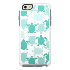 Teal Turtle Pattern OtterBox iPhone 6/6s Plus Case