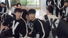 """😂😂🤗 """"Super cute the KK team. Hu Yi Tian ( Wu Bai),Yu Cheng En ( Demo), Marcus Li ( 97) , Wen Yi Fan ( Grunt) , Chen Xi Jun ( Ou Qiang ), Lee…"""" China, Handsome Celebrities, Chinese Movies, Cute Actors, Drama Movies, Asian Actors, Stars And Moon, Boyfriend Material, Cute Wallpapers"""