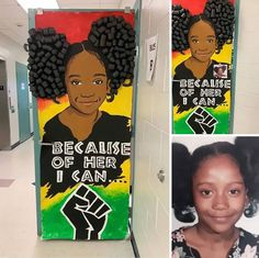 25 Awesome Teachers That Decorated Their Classroom Doors For Black History Month History Bulletin Boards, Teacher Door Decorations, Teacher Doors, School Hallways, Fabulous Quotes, Black Figure, Classroom Door, Black History Month, Best Teacher