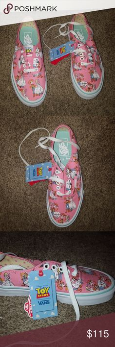 Toy Story Vans NWT!! Adorable toy story vans with Woody and Bo peep. Limited edition !  Size 8 women's /-mens 6.5 Vans Shoes Sneakers