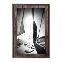 Abstract Sailboat Canvas Print, Brown, Single piece, 20 x 30 inches, Brown