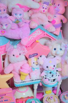 Pastel 80s cuddly toys