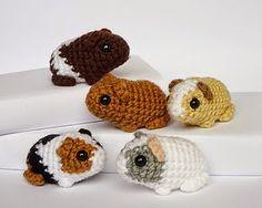 Free cute guinea pigs crochet pattern