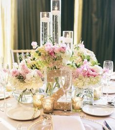 pretty spring wedding flower ideas wedding centerpieces