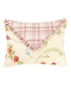 Yellow & Red Flower Throw Pillow #zulily #zulilyfinds