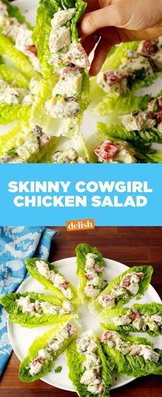 Skinny Cowgirl Chicken Salad makes cutting down on carbs so much easier. Get the recipe at Delish.com.