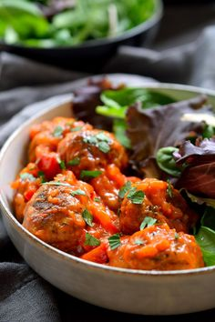 These vegan meatballs are made with from-scratch seitan using vital wheat gluten. They're quick and easy to prepare and are baked.