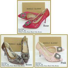 Manolo Blahnik Brukat Heels 4738 Heels 8cm Rose 39 Pink 38,39,40 Brown 39 235rb