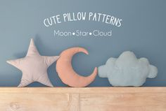 Moon Star Cloud Pillow Sewing Pattern // Make by solipandishop