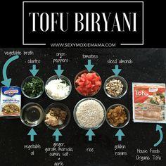 Tofu Biryani. Get the #recipe here: http://www.sexymoxiemama.com/2016/04/03/national-soyfoods-month/