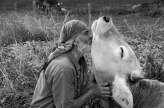 """Cow Whisperer? Sweet picture isn't it? And some think creatures can't """"feel"""".Look at that lovely cow's eyes.She's in Nirvana"""