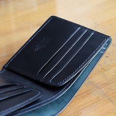 ca5944699f73 Billfold in navy shell cordovan by Mildy Hands Money Clip Wallet, Card  Wallet, Slim